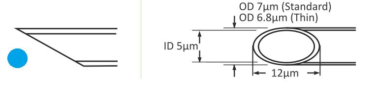 ICSI Pipetten Maße ohne Spike