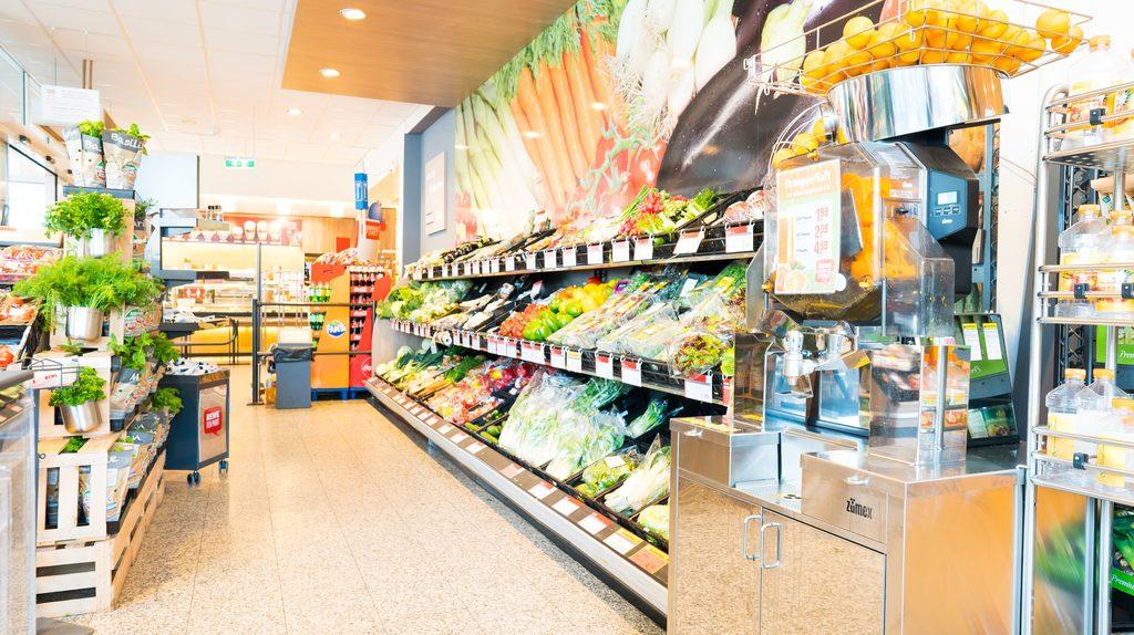 riesige Obst und Gemüse-Auswahl