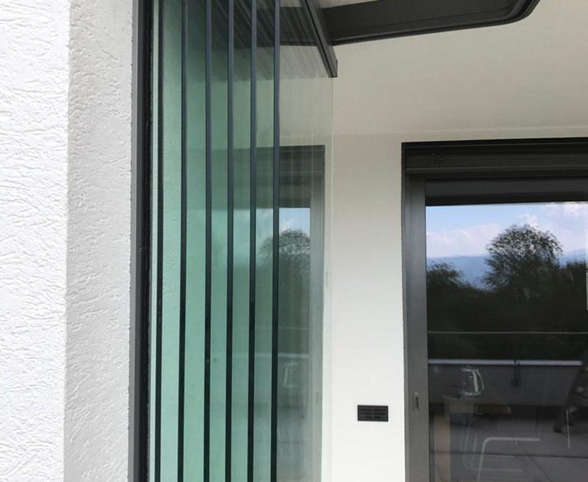 Glas Faltwände ohne Rahmen