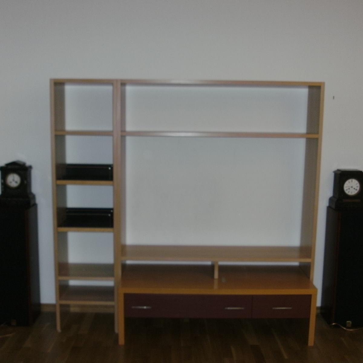 Technikmöbel, Flat, Hifi, CD-Auszüge, 26mm Buchefurnierplatte, lackiert