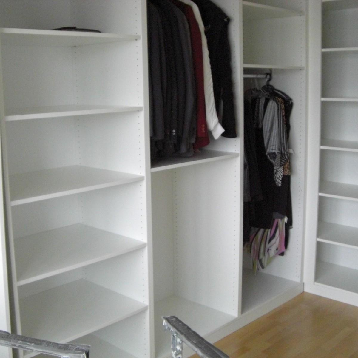 Kleiderschrank, Innenaufteilung