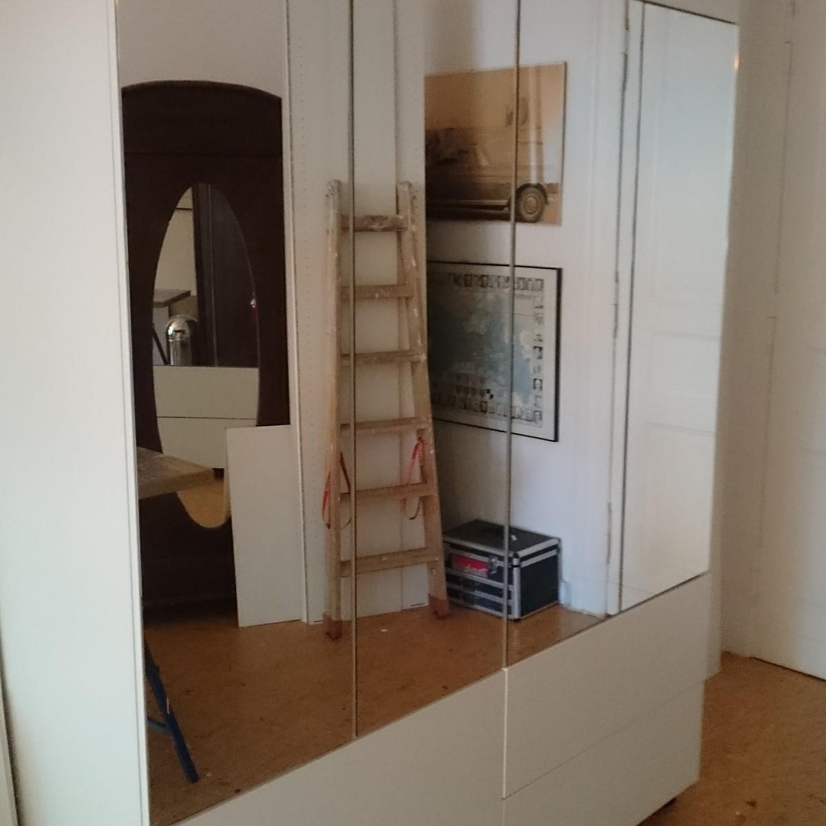 Vorab Aufbau im Tischlerladen, so kann der Kunde sein Möbel entstehen sehen.