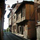 Backsteinhäuser in Albi