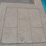 Poolabdeckung aus Granit