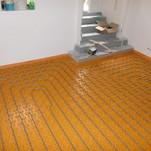 Verlegung einer Schlüter Fußbodenheizung