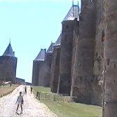 Carcasson - Außenmauern der Stadtfestung