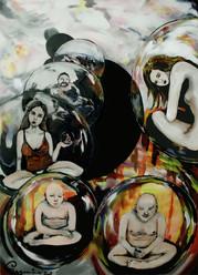 """Bild """"Buddha-Spiegelungen"""""""