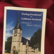 Kirchenheft zur Goldenen Hochzeit