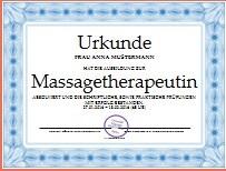 Massage Ausbildung Massageasbildung Zertifikat