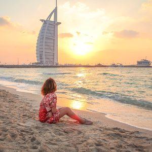 Strand vorm Burj al Arab