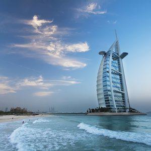 Burj al Arab an der Küste