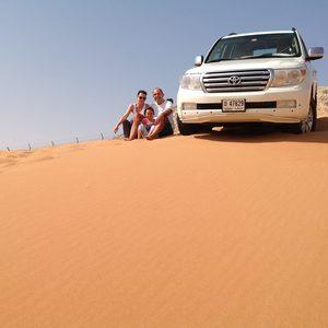 Familie bei unserer Wüstensafari