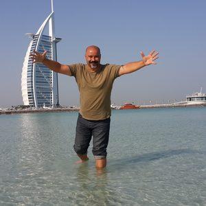 Reda vorm Burj al Arab