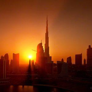 Dubai in der Morgenröte