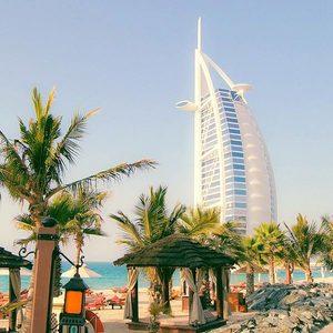 Burj al Arab vom Strand