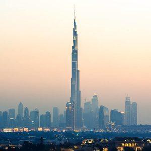Burj Khalifa im Morgengrauen
