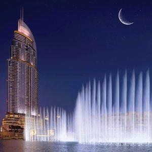 Wasserspiele in Dubai