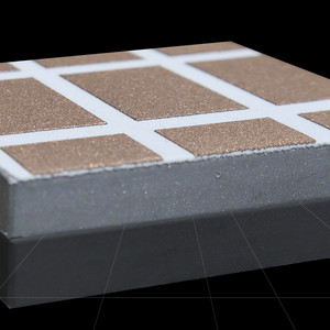leitfähige, lötbare und voneinander isolierte Kupferschichten auf gespritzter isolierender Keramikschicht