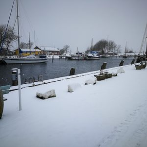 Winter im Orther Orther Hafen