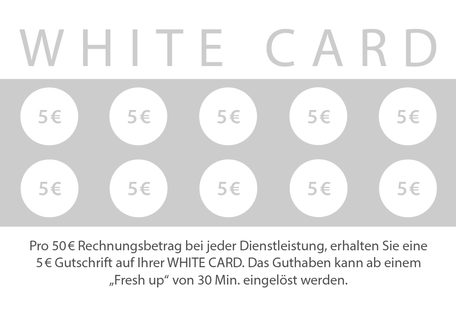White Card Bonuskarte