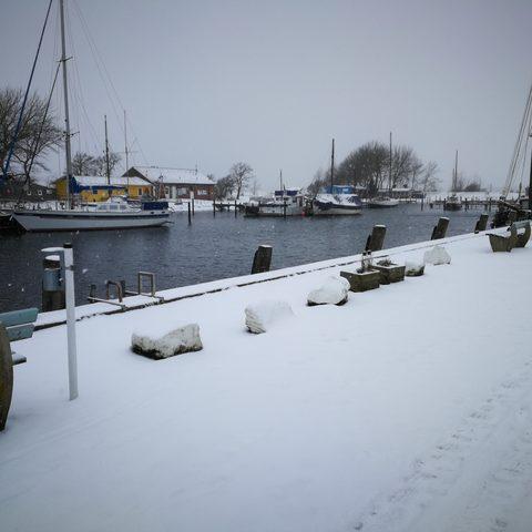 Winter im Orther Hafen