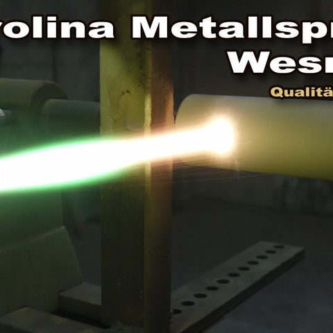 Berolina Metallspritztechnik - HVOF-Beschichtung einer Welle