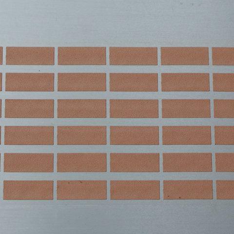 Kaltgasspritzen - lötfähige Einzelsegmente aus Kupfer auf einer Metallplatte beschichtet im Kaltgasspritzverfahren 2
