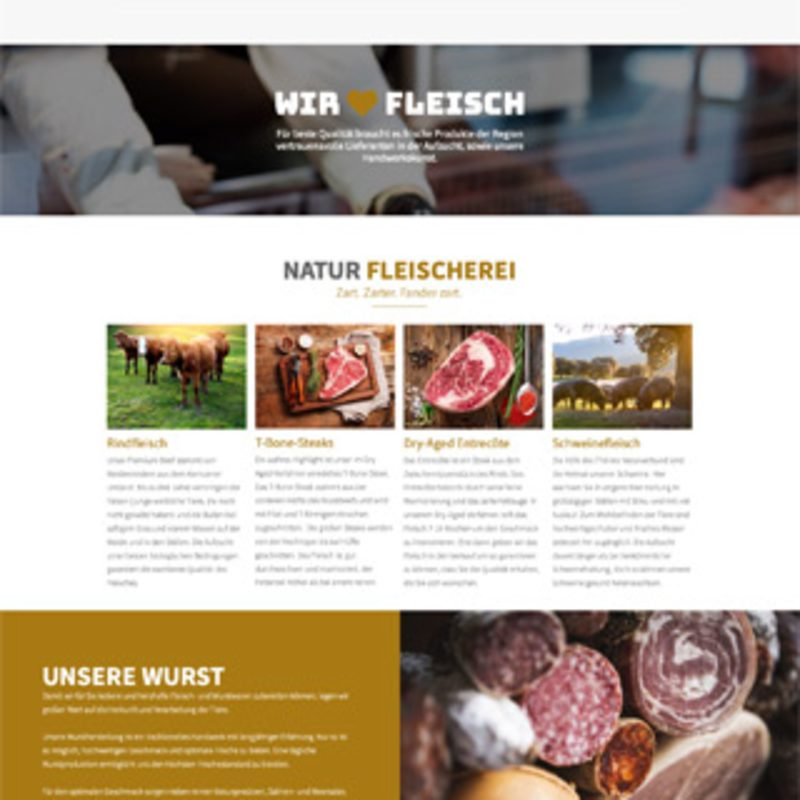 Webseite OnePager